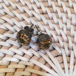 Sabika yellow stud earrings